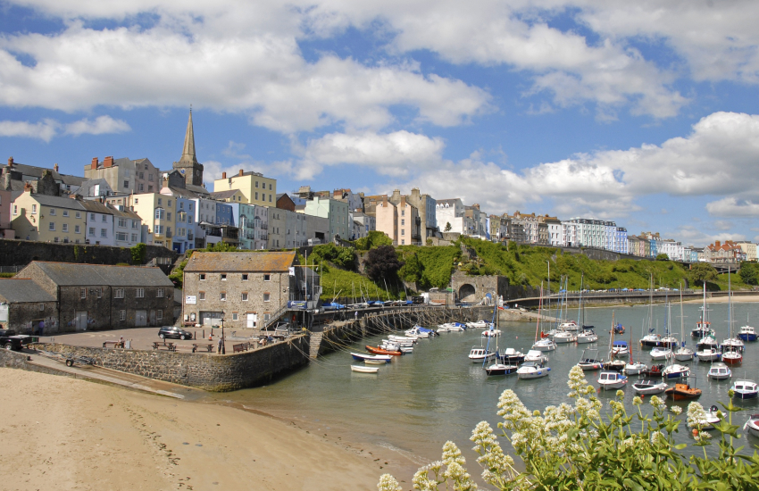 Tenby with its cobbled streets