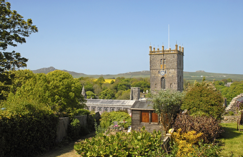 St Davids Cathedral from the twin and master bedrooms