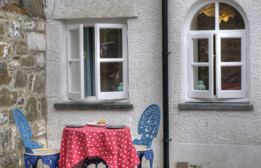 Dolgellau holiday cottage - patio