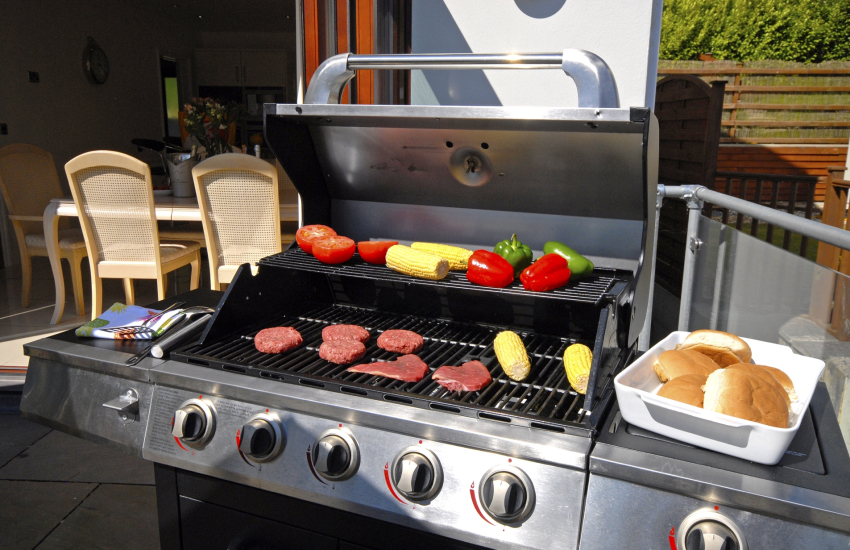Large gas BBQ for alfresco dining