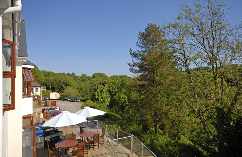 Views over the wooded valley from Heritage House