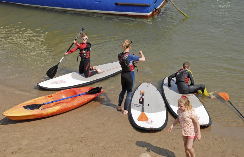 Try sea kayaking or paddle boarding