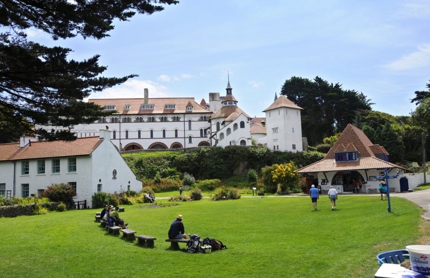 Caldey Abbey is the home of Cistercian Monks