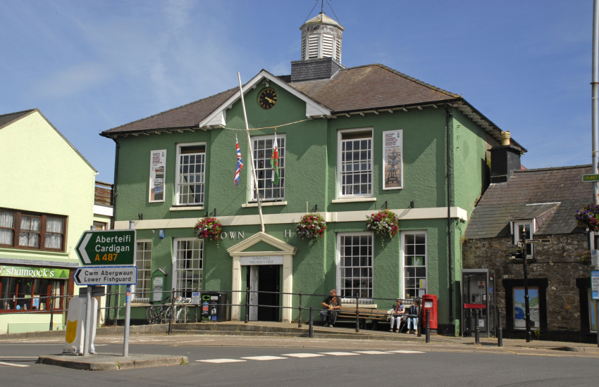 Fishguard Town Hall is home to the 'Last invasion Tapestry'