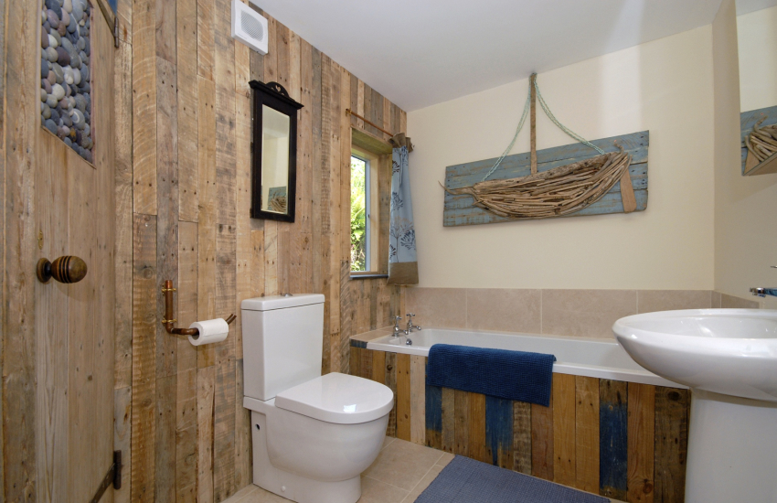 Rustic family bathroom