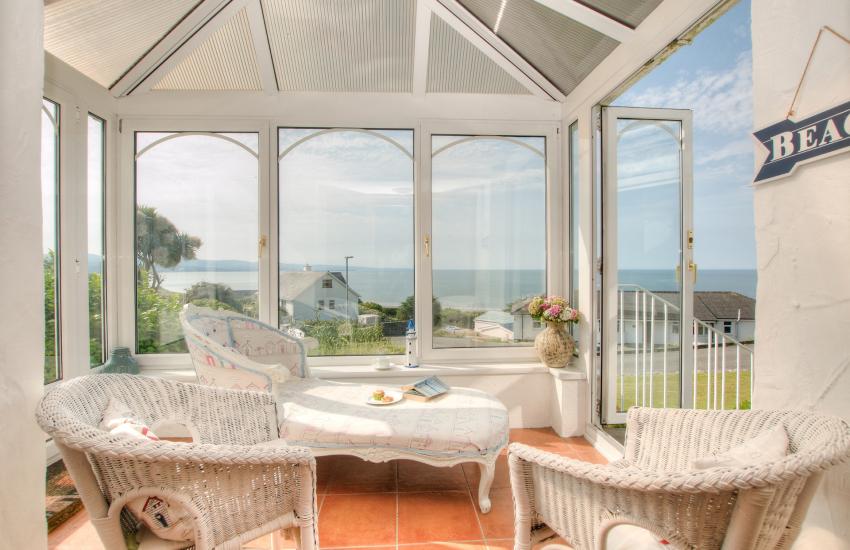 North Wales coastal cottage - sunroom