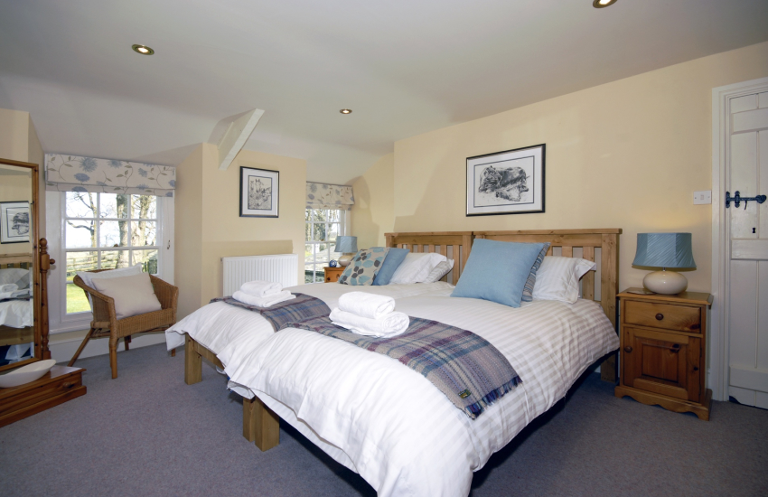 North Pembrokeshire farmhouse  - first floor twin with garden views
