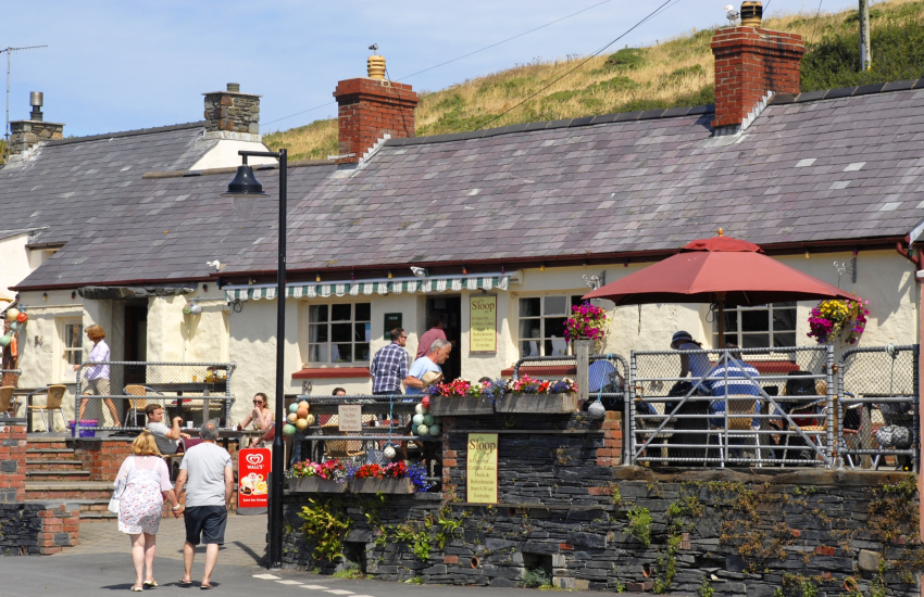 Shed Bistro and The Sloop Inn in Porthgain