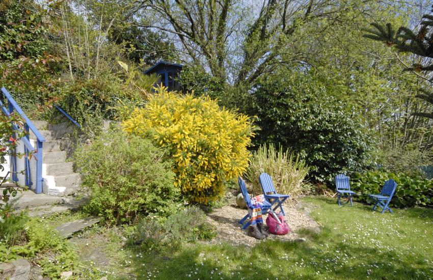 Enclosed sheltered garden