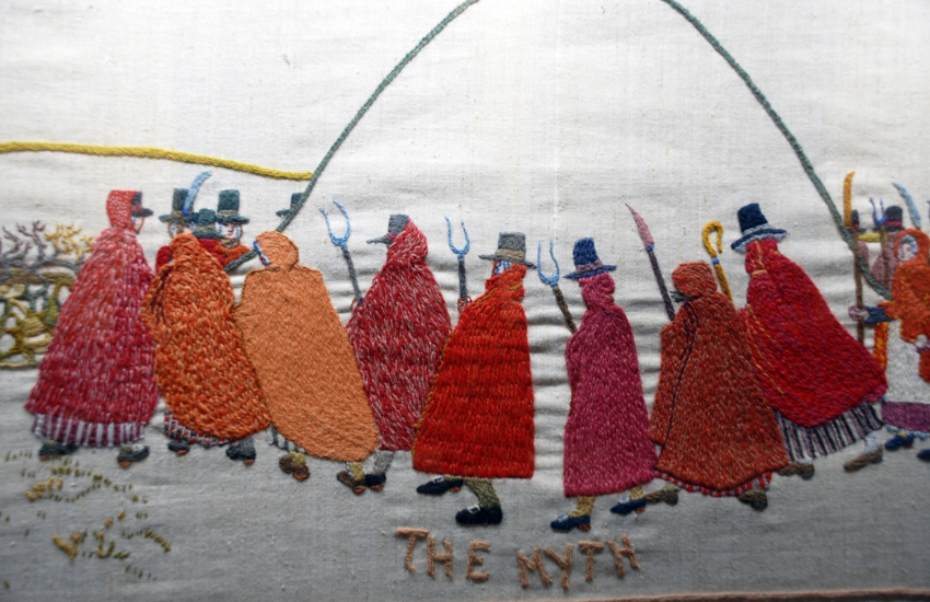 The Last Invasion Embroidered Tapestry