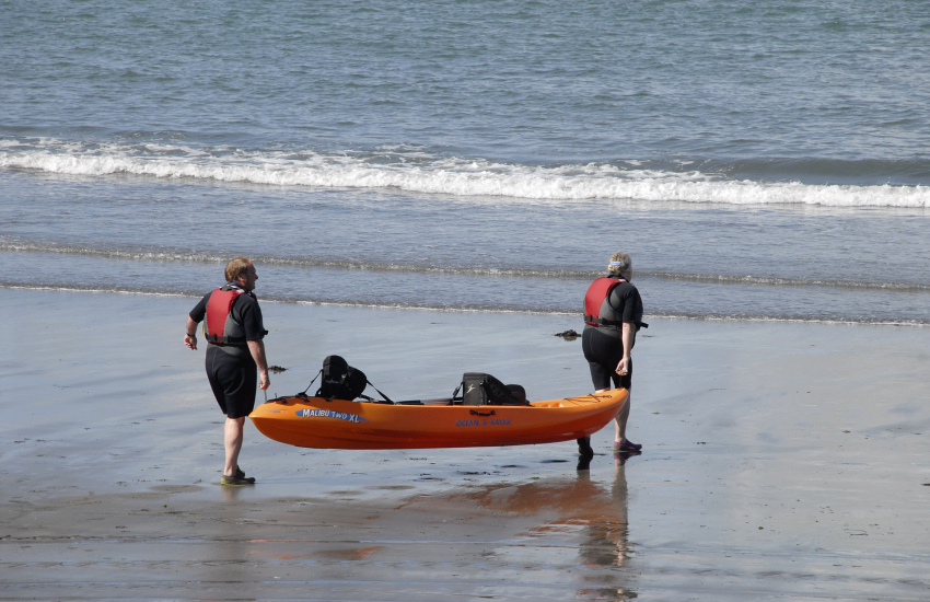 'Kayak King' and Mayberry Kayaking both offer tours along the North Pembrokeshire coastline
