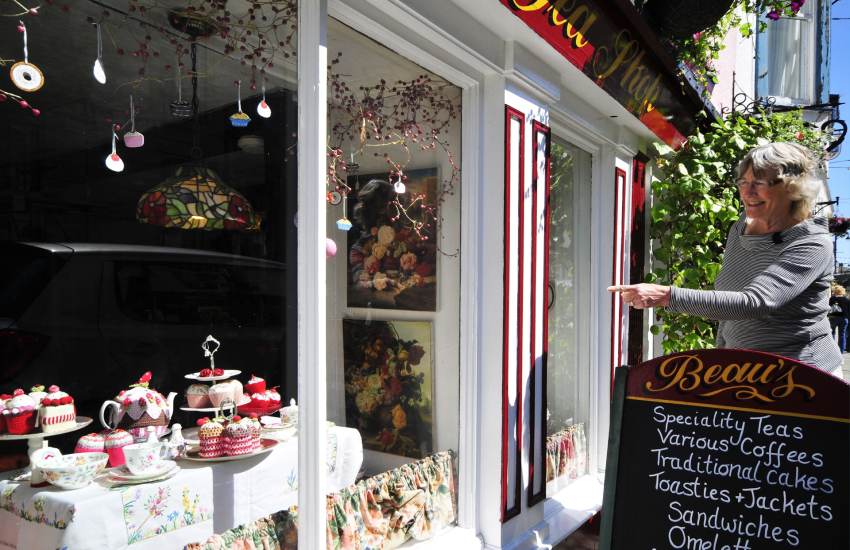 Beaumaris, Anglesey has a selection of colourful and interesting shops