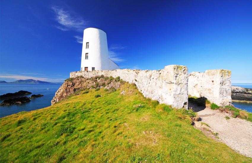 Lighthouse at the tip of Llanddwyn Island