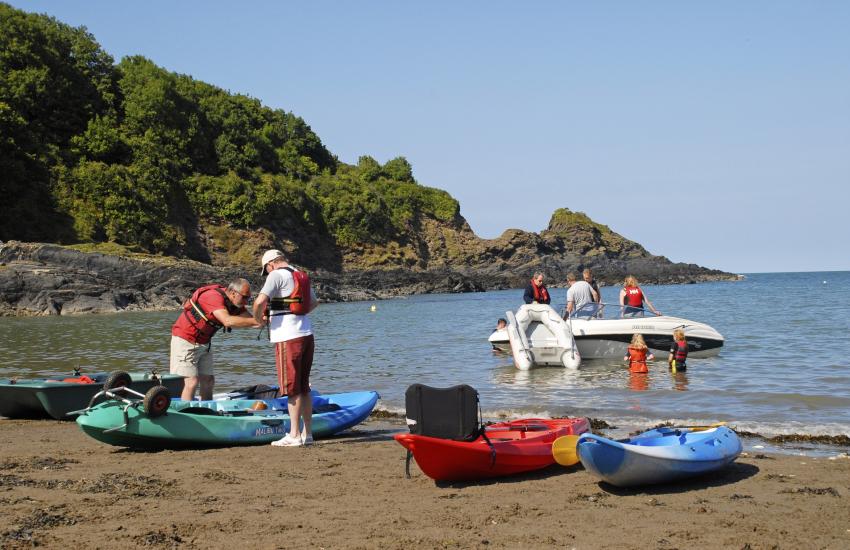 Great way to explore sea kayaking
