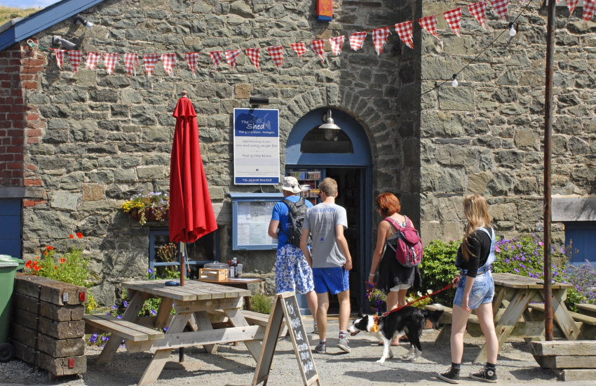 The Sloop Inn and award winning Shed Bistro in Porthgain