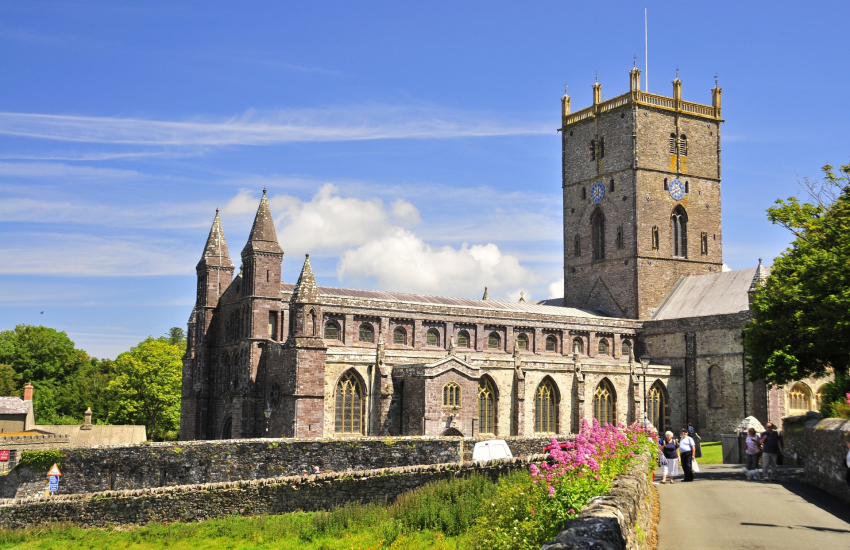 St Davids Cathedral and the ruined Bishop's Palace