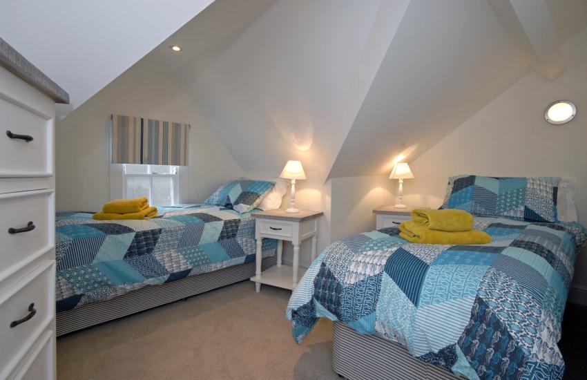 Third floor twin bedroom