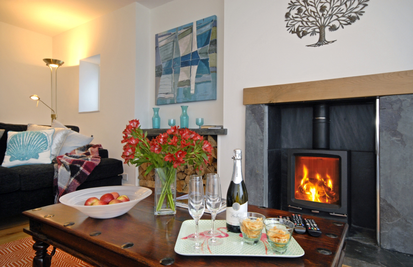 Relax in comfort and style by the log burner