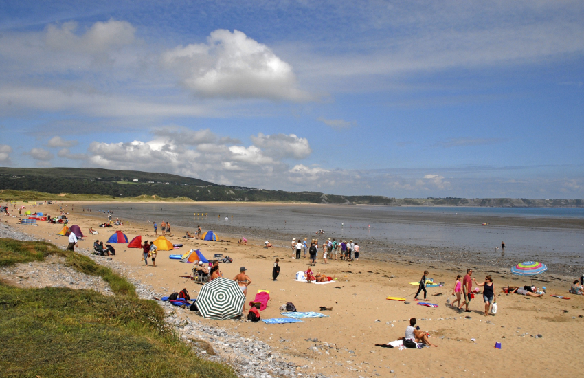 Oxwich beach on the Gower
