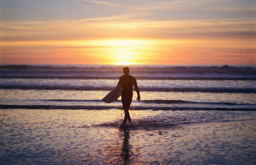 Langland Bay is an iconic surf spot