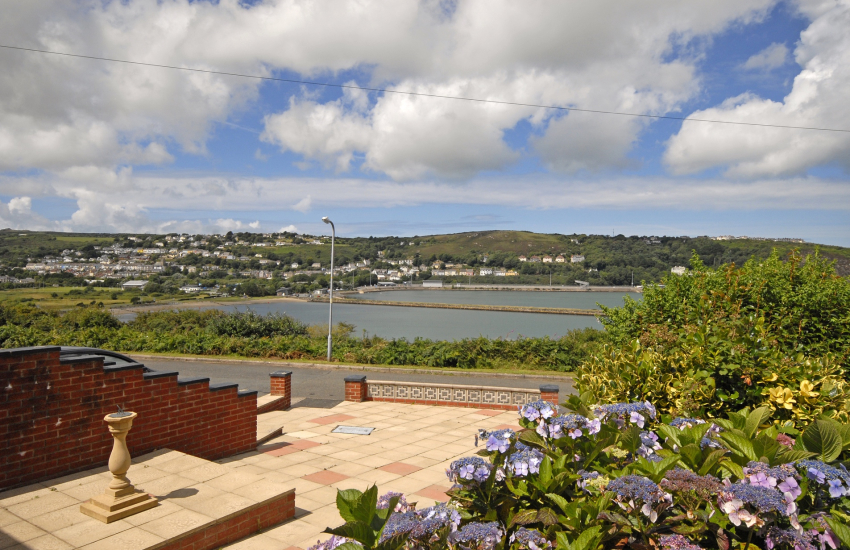 Views over Fishguard Harbour from the front terrace