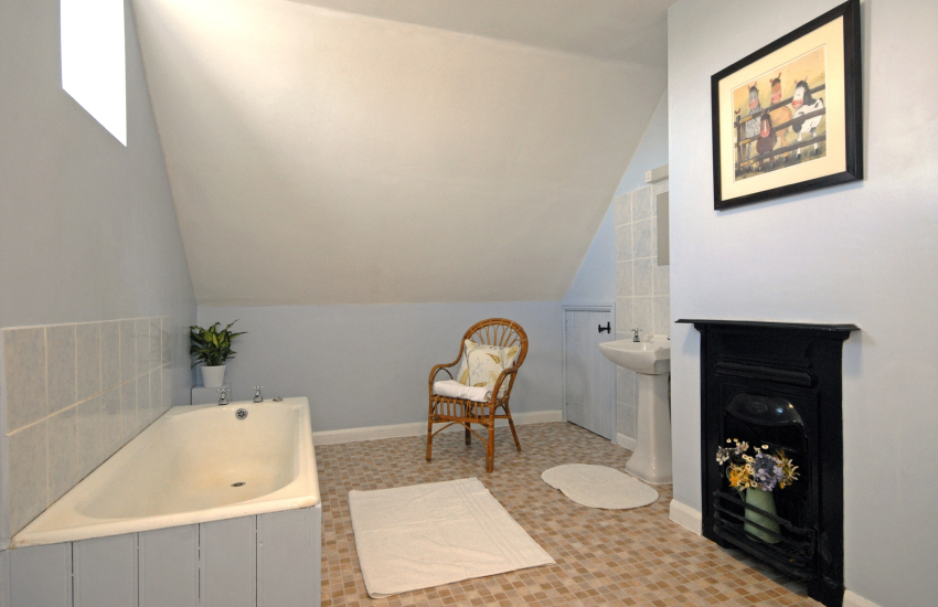 St Davids holiday home - spacious family bathroom