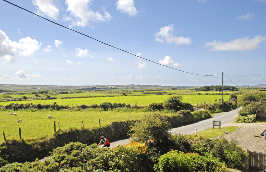 Enjoy panoramic views over St Davids Peninsula and Penberry from the master bedroom