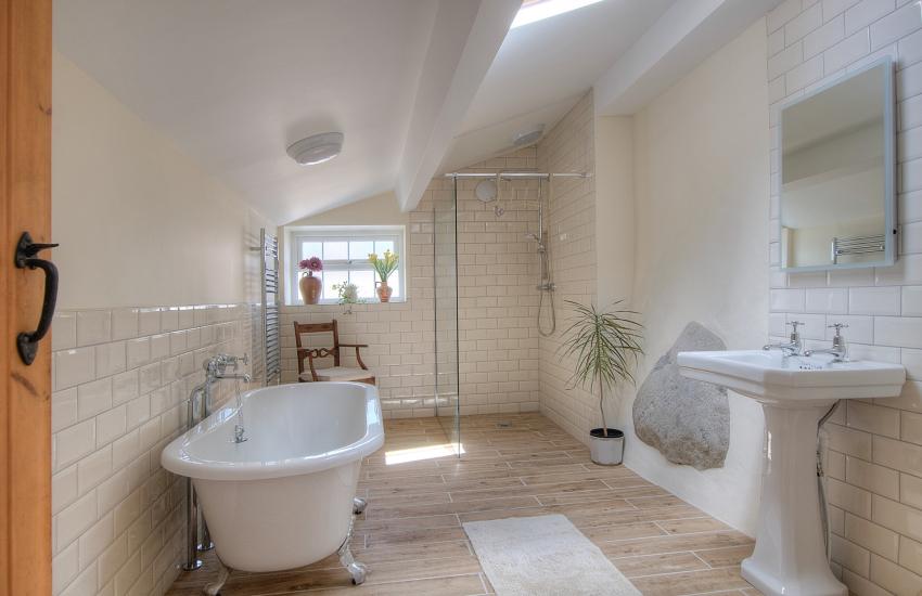 Llyn Peninsula holiday cottage - bathroom