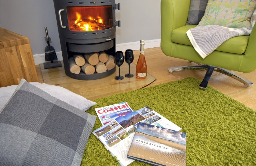 Modern St Davids holiday home with log burning stove