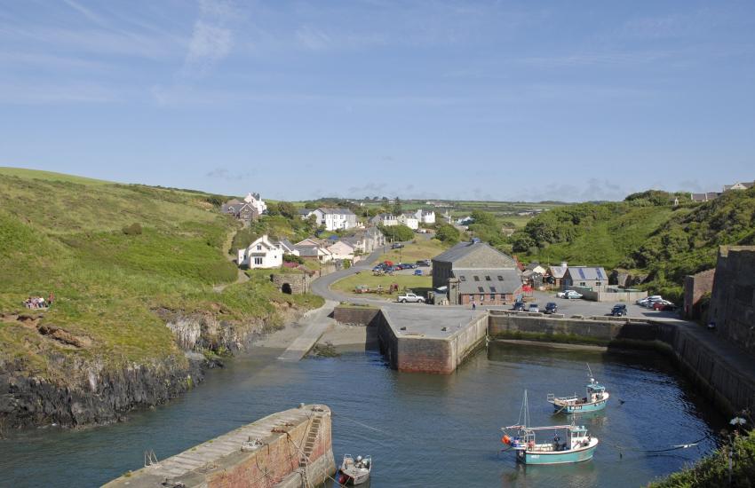 Porthgain, a popular harbour village