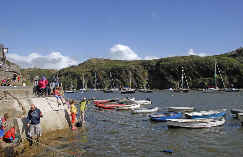 Solva Harbour enjoy fishing and crabbing off the quay