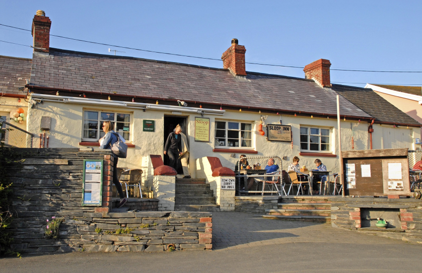 'The Sloop' - a popular traditional pub Porthgain