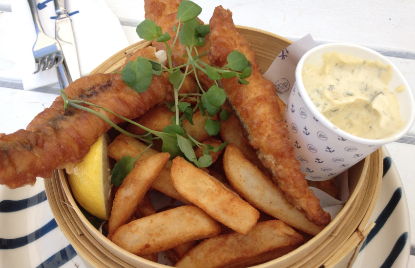 The Shed Bistro in Porthgain for the most delicious fish & chips