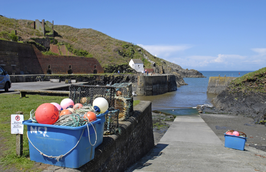Porthgain is a tiny picturesque harbour fishing village