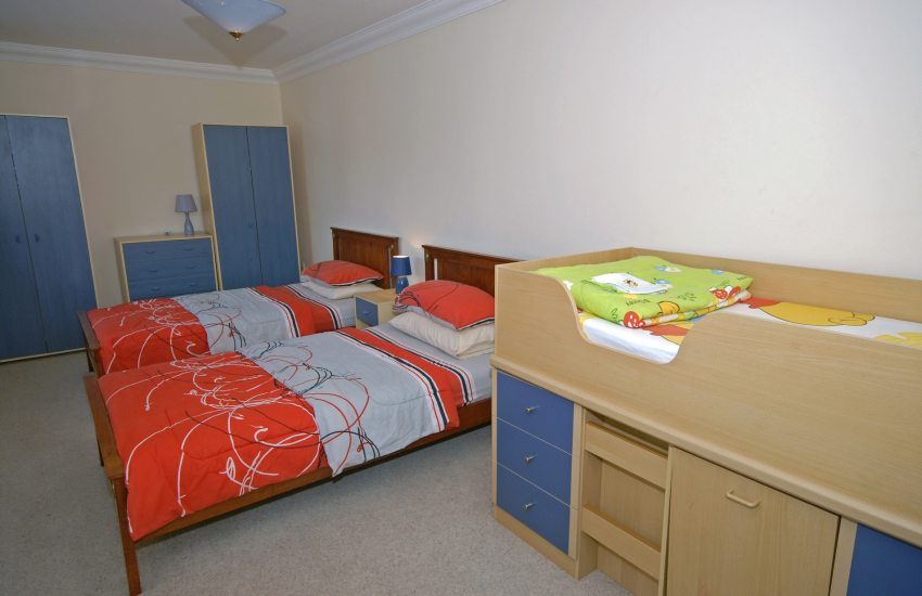 Twin with child's cabin bed