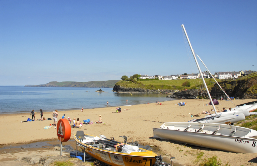Aberporth, with its two sandy Blue Flag beaches