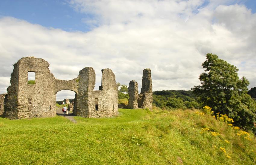 Newcastle Emlyn's medieval castle where the last dragon in Wales was slain