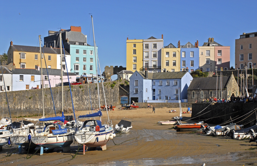 Tenby with it's colourful harbour