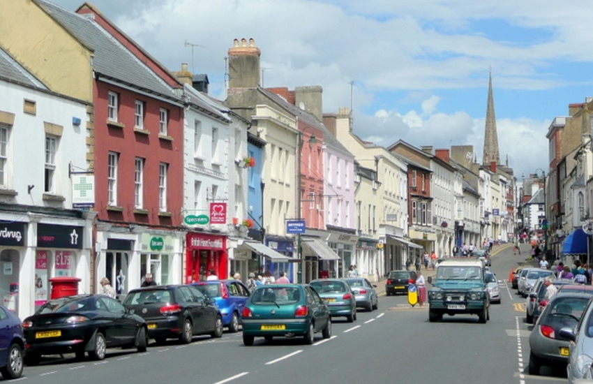 Monnow street is the main shopping street of Monmouth