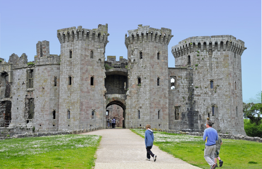 Raglan Castle is amazing castle with moat