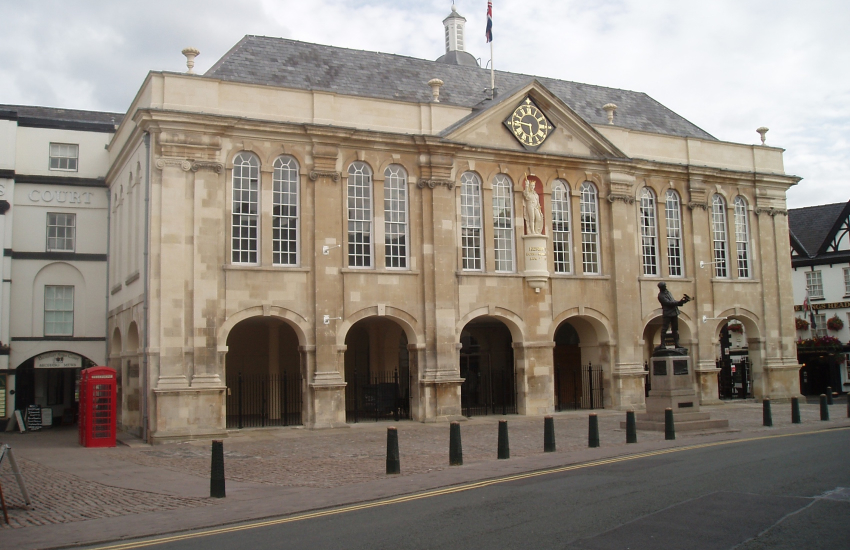 The Shire Hall in Monmouth