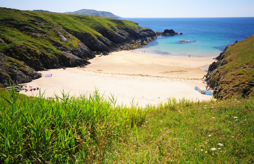 Porth Iago gorgeous secluded bay