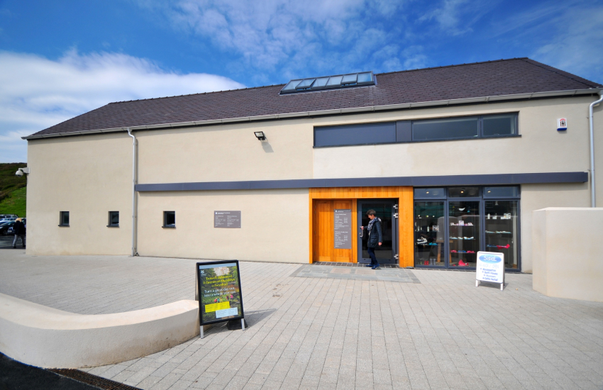 National Trust visitor centre in Aberdaron, Llyn Peninsula