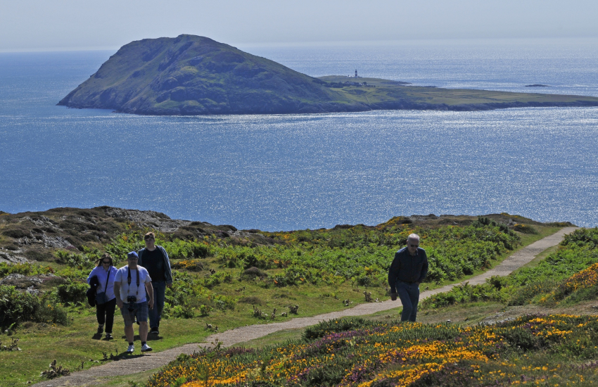 Bardsey Island and footpaths