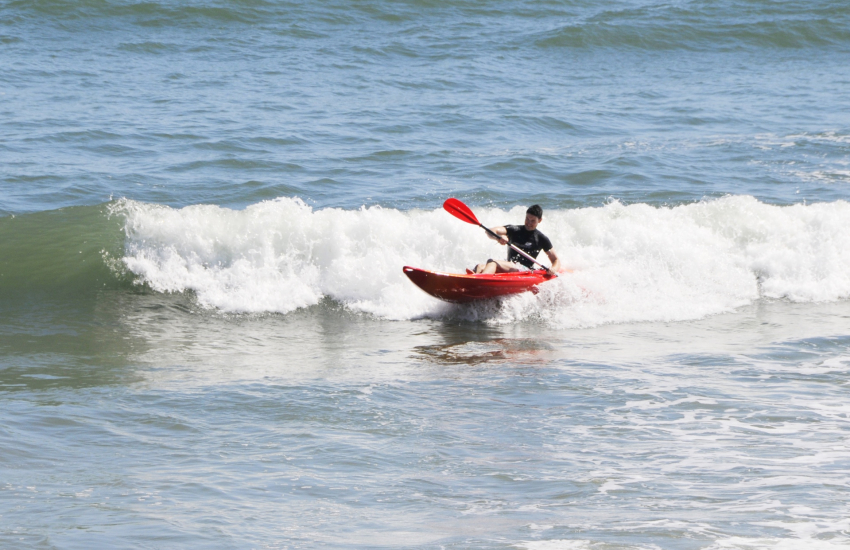 More adventurous of you - try coasteering or sea kayaking in the waves