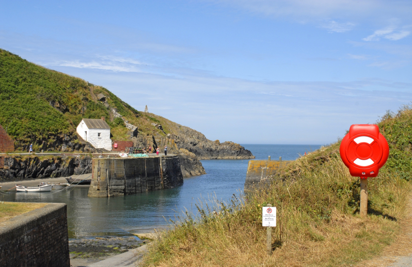 Harbour at Porthgain and The Sloop Inn