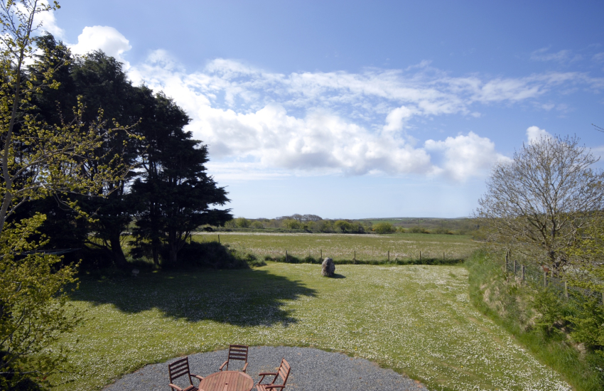 Views over the North Pembrokeshire countryside from Cerbid House