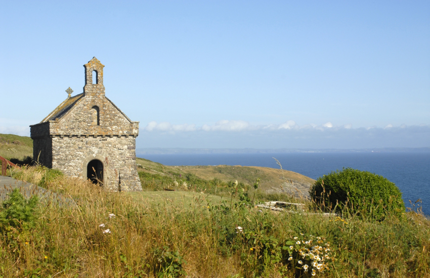 Caerfai to Whitesands and linger at tiny St Nons Chapel