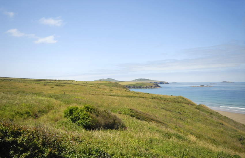 Stunning coastal views to Ramsey Island from the first floor twin