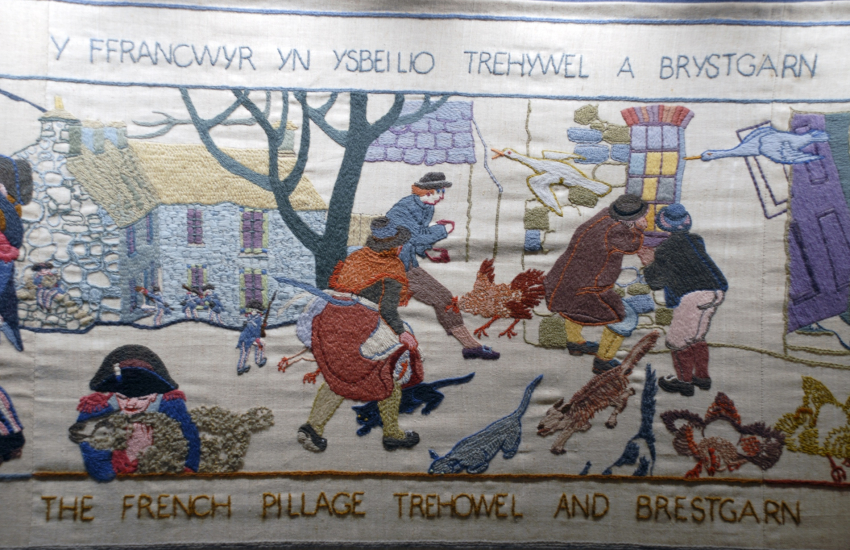 'Last Invasion Tapestry' is on display at Fishguard Town Hall